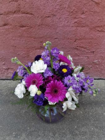 Purple Power Vase arrangement