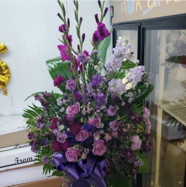Purple rain vase Arrangement