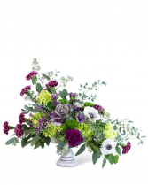 Purple Reign Compote Flower Arrangement