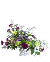 Purple Reign Compote Flower Arrangement