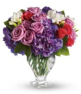 Purple Rhapsody Fresh Flower Arrangement
