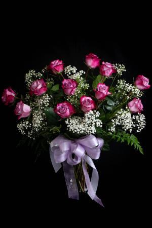 (ON SALE) Purple Rose A Dozen