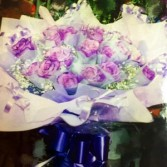 Purple Roses Bouquet Hongkong Style