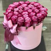 Purple roses   Keep sake gift box