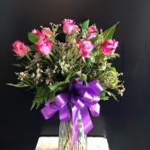 Purple Roses Roses