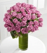 Purple Roses Vase Arrangement