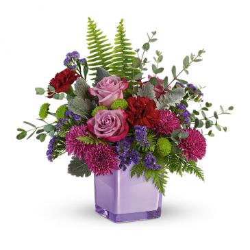 Purple Serenity Fresh Arrangement
