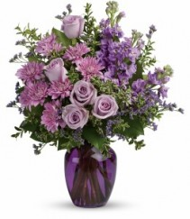Purple Serenity Vase Arrangement