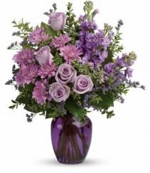 Purple Serenity Vase Arrangement