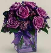 PURPLE SHOWER ELEGANT MIXTURE OF FLOWERS