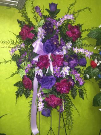 Purple Silk Standing Spray