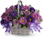 Purple Spring Basket