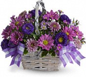 Purple Spring Basket