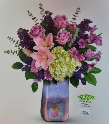 Purple Swirls Bouquet