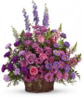Purple Sympathy Basket