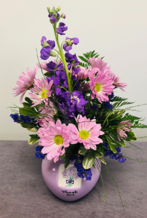 Purple Thank You  Bouquet