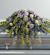 Purple Tribute Casket Spray SY105