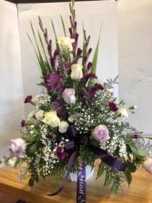 Purple tribute Funeral Flowers