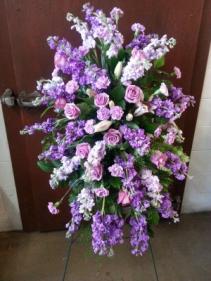 Purple Tribute Standing Spray