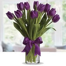 Purple Tulip  Floral Arrangement