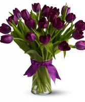 Purple Tulips Arrangement