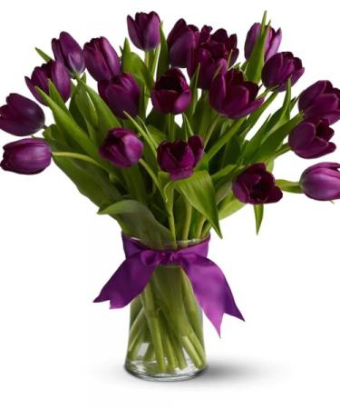 Purple Tulips Arrangement