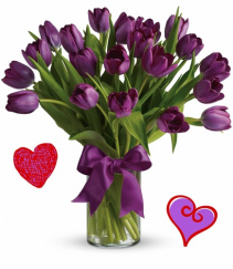 Purple Tulips Vase