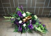 Purple Unique Funeral/Casket spray