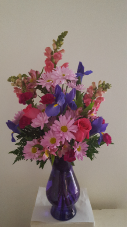 Purple  Vase Arrangement
