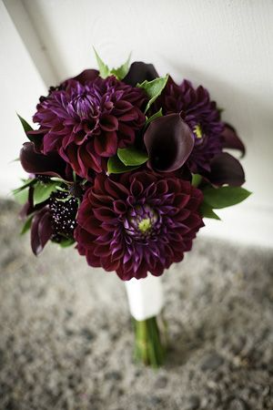 Purple Velvet Bouquet Wedding Bouquet