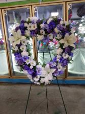 Purple white heart Purple white