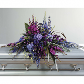 Purple Wilderness Casket spray