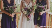 Purple wildflower  Wedding Party Bqts