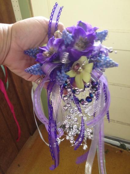 Purple Wristlet Corsages