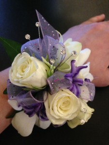 purple haze  wrist corsage
