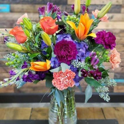 Purple+Orange= Happy Flowers for All Occasions