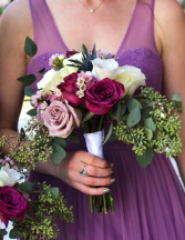 PurpleWild Flower Bridesmaid Bouquette