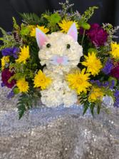 Purr-fect Kitty Fresh Flower Kitty