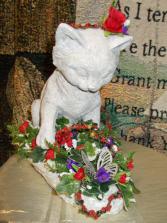 Purrrrfect gift stone cat statue