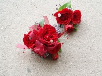 Red Jazz Corsage and Boutonniere Set