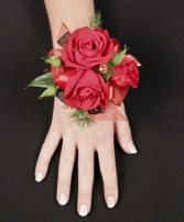 PUTTING ON THE RITZ RED Corsage