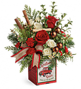 Quaint Christmas All-Around Floral Arrangement