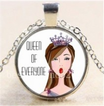 Queen of Everyone #39 18 inch silver plated necklace