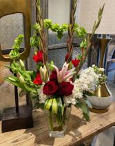 Queen of Hearts Tall Vase Arrangement