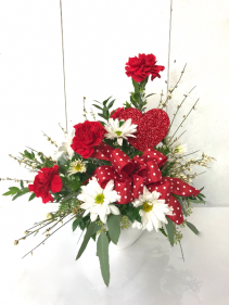 Queen of Hearts Fresh Arrangement