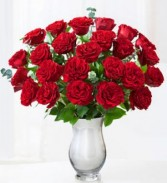 Queen of Hearts-24 Red Roses 2 dozen roses