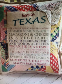 Quilted Texas Pillows