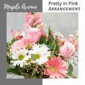Pretty in Pink-Pink  & White Vase Arrangement