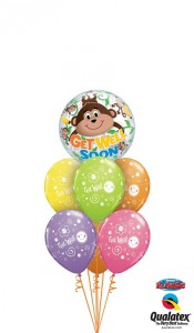 Quit monkeying around - Get  Well soon balloons in Edmonton, AB | BALLOONS, BEARS, & BOUQUETS