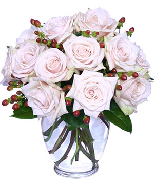 Rare Beauty Bouquet of Pale Pink Roses in Naugatuck, CT | TERRI'S FLOWER SHOP